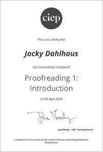 Certificate Proofreading 1. Introduction